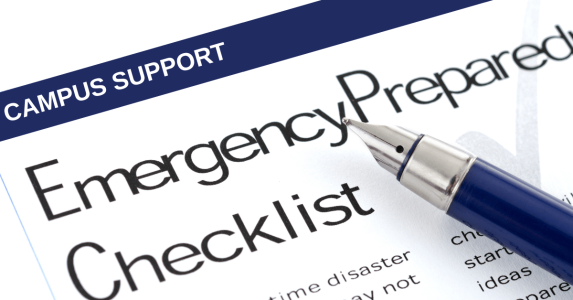Supporting campus through emergency preparedness and development plans