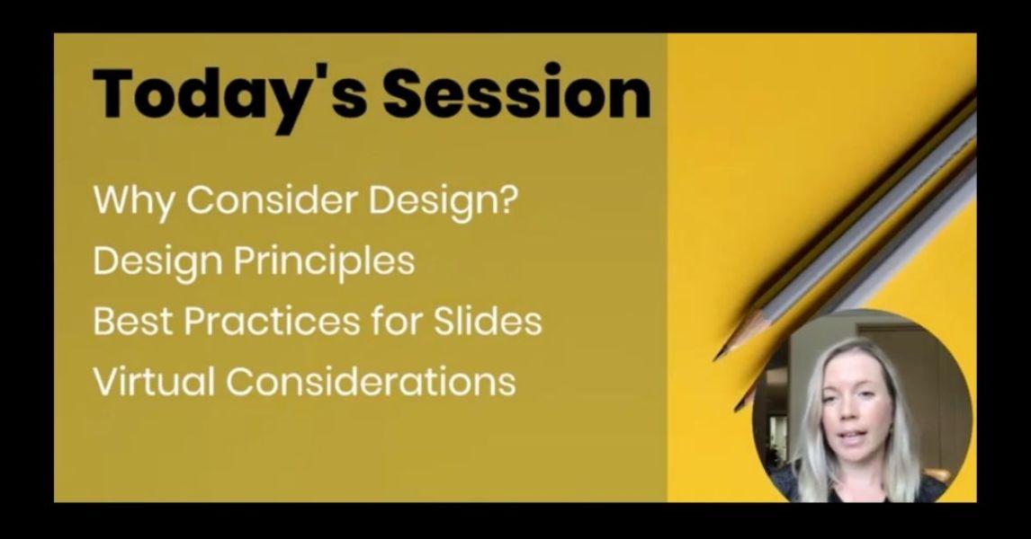 Design principles to deliver effective visual presentations for remote learning