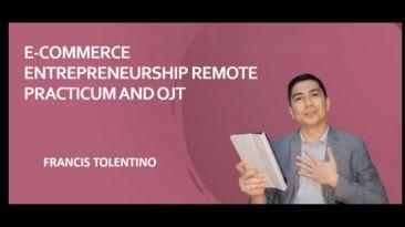 E-commerce entrepreneurship remote practicum and on-the-job training
